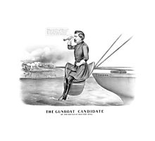 George McClellan -- The Gunboat Candidate At The Battle Of Malvern Hill Photographic Print