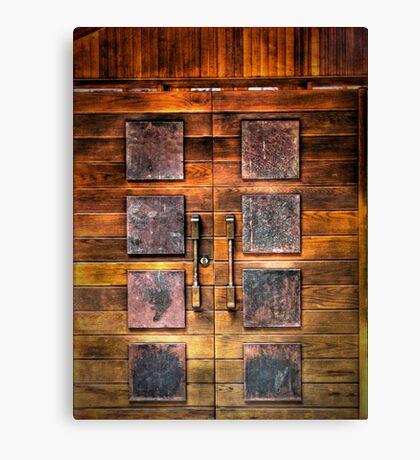 Copper Plate Door  Canvas Print