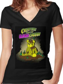 Creature from the Bleurgh Lagoon - in technicolor Women's Fitted V-Neck T-Shirt