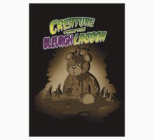 Creature from the Bleurgh Lagoon - in Sepiatone Kids Tee