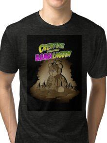 Creature from the Bleurgh Lagoon - in Sepiatone Tri-blend T-Shirt