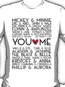 Disney Couples + You & Me T-Shirt