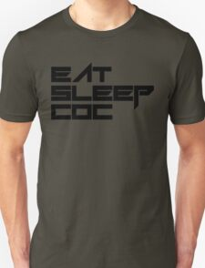 eat, sleep, coc (clash of clans) typography - foughtknight T-Shirt