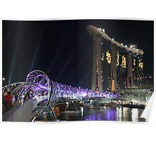 Marina Bay Bridge Poster
