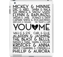 Disney Couples + You & Me iPad Case/Skin
