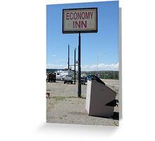 economy inn Greeting Card