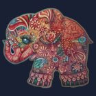 Vintage Elephant TShirt by Karin  Taylor