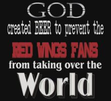God, Beer & the Red Wings for Dark Backgrounds by MGR Productions