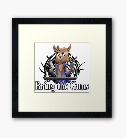 Bring the Guns Framed Print