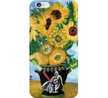 Sunflowers in Darth Vader Vase iPhone Case/Skin