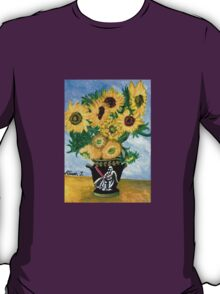 Sunflowers in Darth Vader Vase T-Shirt