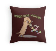 Wired Dachshund Throw Pillow