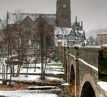 Tweed Bridge & the Peebles Old Parish Church by Christine Smith
