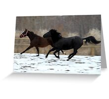 Racing in the Wind Greeting Card