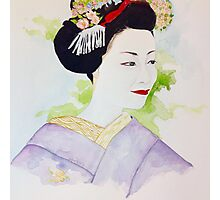Lavender Maiko  Photographic Print