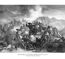 General Custer's Death Struggle by warishellstore