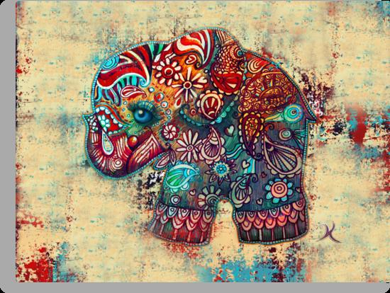 Vintage Elephant by © Karin  Taylor