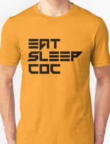 eat, sleep, coc (clash of clans) typography - vermin T-Shirt