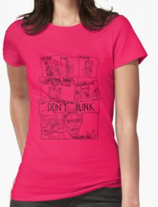 Weeping Angel Comic Womens Fitted T-Shirt