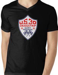 U.S.30 Dragstrip Shirt Mens V-Neck T-Shirt