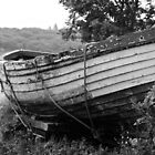 Well-worn boat longs to break free, cast off her ropes and sail to the sea... by Ainsley Kellar Creations