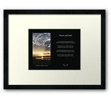 Heaven & Earth Framed Print