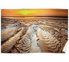 Sunrise ripples Poster