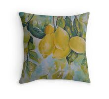 Golden fruit Throw Pillow