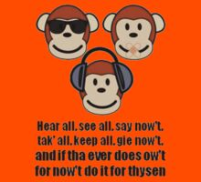 """The Barnsley Proverb """"Hear All, See all Say Nowt"""" by taiche"""