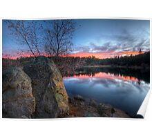 2 Rocks Enjoy a Sunset Poster