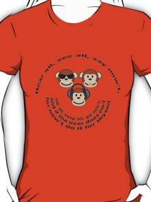 "The Yorkshire Proverb ""Hear All, See all Say Nowt"" T-Shirt"