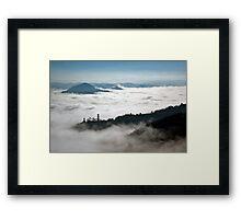 Denice in the mist Framed Print