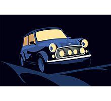 Mini Cooper in Blue Photographic Print