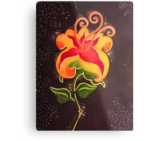Flower Gleam and Glow Metal Print