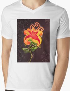 Flower Gleam and Glow Mens V-Neck T-Shirt