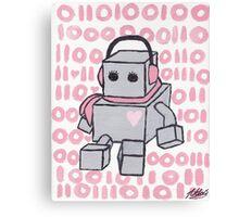 I Love You Binary Robot Canvas Print