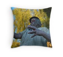 UZA Ray Digger Happy Throw Pillow