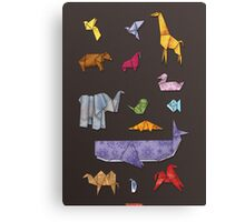 Origami Zoo Canvas Print