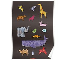 Origami Zoo Poster