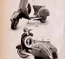 Vespa Scooter 1969 by ArtPrints