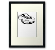 Mazda MX-6 (No Model Name) Framed Print