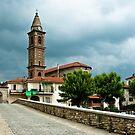 Dark clouds over Monastero Bormida by Karen Havenaar