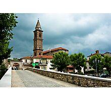 Dark clouds over Monastero Bormida Photographic Print