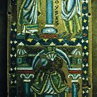 Brazen serpent and Moses Limoges Enamel 1160-70 St Epistolen Koln Germany 198406270024 by Fred Mitchell