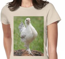 Farm talk - Snoodles, a chick with attitude! Womens Fitted T-Shirt