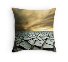 raj test craked earth Throw Pillow