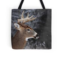 Catching Snowflakes - White-tailed Deer Tote Bag