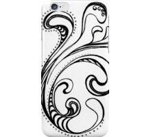 Black and White Swirls 03 iPhone Case/Skin