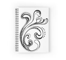 Black and White Swirls 03 Spiral Notebook
