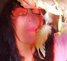 Blowing Deerbone Feather Rainbow series by RealPainter